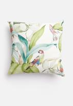 Grey Gardens - Humming bird cushion cover - green