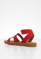 Madison® - Annie elastic ankle strap sandal - red
