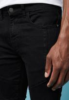 Superbalist - Skinny biker jeans - black