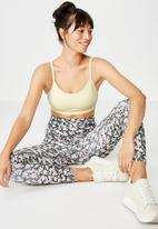 Cotton On - Workout yoga crop - yellow
