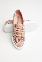 SUPERGA - 2750 synthetic snake - pink brown