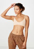 Cotton On - Seamfree triangle bralette - beige