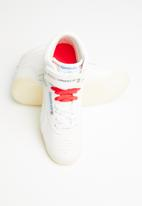 Reebok Classic - Free style hi - white/chalk/neon red