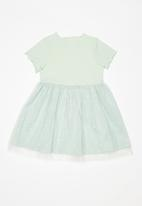 POP CANDY - Combo mesh dress - green
