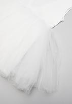 POP CANDY - Mesh combo dress - white