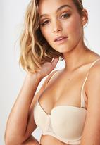 Cotton On - Smooth lace contour strapless bra  - neutral