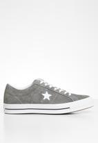 Converse - One Star vintage suede sneaker - carbon grey/white/black