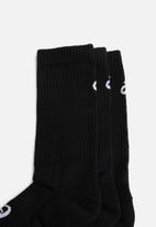 Asics - Crew 3 pack socks - black