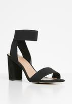 Call It Spring - Faux suede ankle strap block heel - black