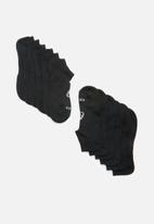 Asics - 6 Pack invisible socks - black