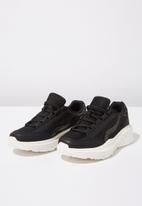Cotton On - Faux leather wedge tech sneaker - black