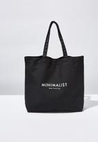 Cotton On - Minimalist washed tote - black