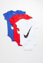 Nike - Nike swoosh short sleeve 3 pack bodysuits - multi