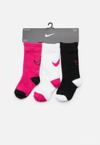 Nike - Nike track 3 pack toddler socks - multi