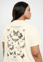 Cotton On - Curve graphic tee le papillion - beige