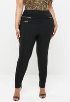 New Look - Three zip trouser - black