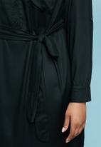 Superbalist - Maxi shirt dress - black
