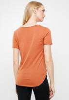 G-Star RAW - Graphic optic slim tee - orange