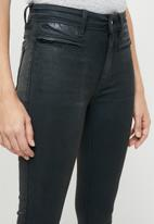 G-Star RAW - Ashtix zip high super skinny ankle jeans - charcoal
