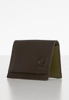 G-Star RAW - Grizzer leather wallet - dark brown & sage