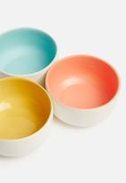 Urchin Art - Kari snack bowl set of 3 - multi