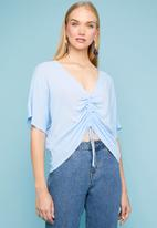 Superbalist - Drawcord shell blouse - blue