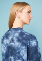Superbalist - Tie-dye oversize sweat - blue