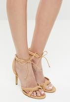 Madison® - Faux leather knotted heels - neutral