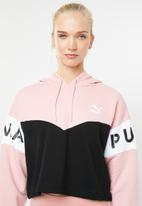 PUMA - Colour block hoodie - pink & black