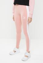 PUMA - Classic logo leggings - pink & white