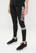 PUMA - Modern sports leggings - black & pink