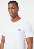 adidas Performance - Adidas performance v-neck tee - white