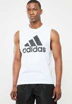 adidas Performance - Adidas tank - white & black