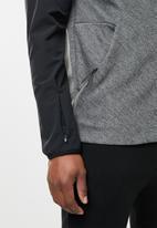 adidas Performance - ZNE hooded hybrid sweatshirt - black & grey