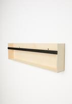 Sixth Floor - Wall mount bookshelf - natural & black