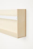 Sixth Floor - Wall mount bookshelf - natural & white