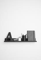 Sixth Floor - Lippy wall shelf - black