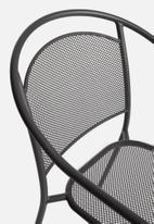 Sixth Floor - Mesh outdoor chair - dark grey