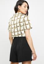 Missguided - Chain print short sleeve shirt - multi