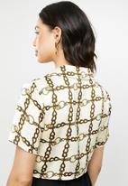 Missguided - Chain print short sleeve shirt - multi