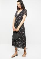 Missguided - Floral button front maxi dress - multi