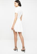 Missguided - Button down skater shirt dress - white