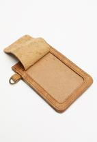 Escape Society - Leather lanyard cardholder - tan