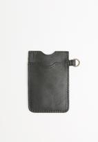 Escape Society - Leather lanyard cardholder - black