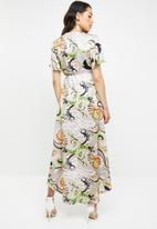 Missguided - Pastel wrap midi dress - multi