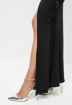 Missguided - Lace panelled fishtail maxi dress - black