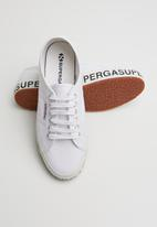 SUPERGA - 2750 Canvas logo - white
