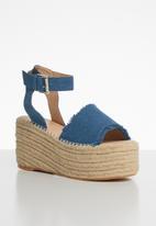 Superbalist - Santorini espadrille flatform - blue