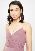 Missguided - Slinky wrap-over mini dress - pink