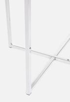 Sixth Floor - Cross lamp table - chrome